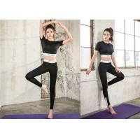 Quality Anti - Bacterial Moulding Womens Yoga Suit Comfortable For Summer Fitness wholesale