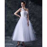 China Elegant Heart Shaped tea length wedding dresses gowns in S M L XL XXL size on sale