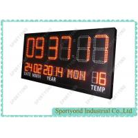 Electronic clock board with temperature led display