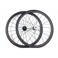 Quality Tubular Clincher Carbon Cycling WheelsT700 , Carbon 38mm Fixed Rear Wheel 700c wholesale
