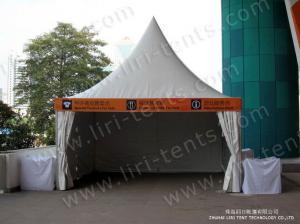 China Outdoor Party Gazebo Canopy Marquee 5x5m With Plain White PVC Sidewall Around on sale