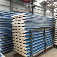 Quality polyurethane foam refrigerated insulated 0.326mm blue corrugated roof panel wholesale