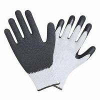 Quality Safety protection gloves with black latex palm coating wholesale