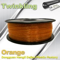 Quality MSDS Twinkling Orange 3D Printer Filament 1.75mm Filament For 3d Printer wholesale