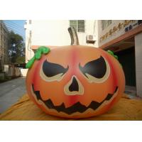 China Customized Halloween Inflatable Advertising Signs / Blow Up Pumpkin Decorations on sale