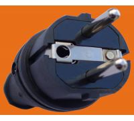 2P+E 16A 250V~TPE rubber Black EU Germany standard Industrial power plug(P6051)