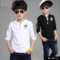 Quality Beautiful baby long sleeve top striped Boy t shirt kids tops long striped sleeve tops for baby boys wholesale