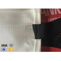 Quality Fire Resistant Fiberglass Fire Blanket FireProof Covers White / Brown wholesale