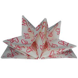 China pre-folded paper napkins for wedding 40cm x 60cm printed paper napkin on sale
