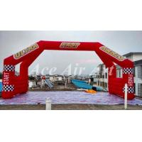 Quality custom 26' red advertising start finish line arch inflatable double arch with 4 legs wholesale