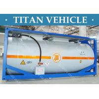 Quality Carbon Steel ISO Tanker container , 20ft Diesel Fuel LNG LPG Transport Tank Container wholesale