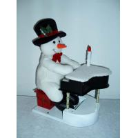 Quality 11Inch Musical Snowman Playing the Piano Toddler Electronic Toys for Christmas Decor wholesale