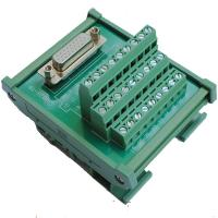 China HDP26 DB26 D Sub 26 Pin Female Socket Connector Terminal Block Breakout Board on sale