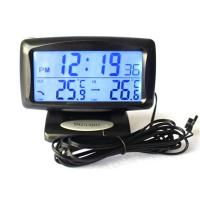 KS350 Car Electronic Clock Temperature Meter Auto Indoor And Outdoor Thermometer