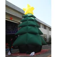 Cheap 5m High Inflatable Christmas Decorations / Advertising Blow Up Christmas Tree for sale