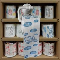 Quality printed toilet paper supplier 3 layer 200 sheets 100% wood virgin pulp china factory wholesale