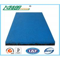 China Eastic Rubber Playground Mats , EPDM Granule Red Safety Rubber Floor Mat for Gym on sale