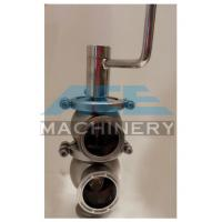 Cheap Sanitary Ss304 Ss316L Pneumatic Reversing Valve Tri Clamp L Type Handle Cut-Off for sale