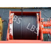 Quality Lebus Groove Offshore Tower Crane Winch Drum / Hydraulic Crane Winch wholesale