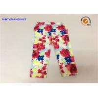 Quality Super Soft Baby Girl Floral Leggings Flower Print For Fall / Winter Sample Approval wholesale