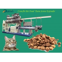 China 2-3 Ton per hour Dry Pet Food Extruder Machine Dog Kibble  Processing Line for Dog Breeding on sale