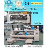 Quality 3 Ply / 5 Ply / 7 Ply Paperboard Box Stitching Machine For Big Size Carton wholesale