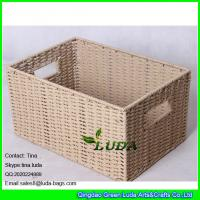 China LDKZ-051 natural paper rope woven storage bin 2016 new home storage basket on sale