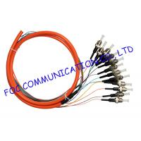 Quality 50/125um Optical Fiber Pigtail 12Core Distribution Fan Out ST MM Precision Alignment wholesale