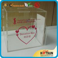 Cheap acrylic suggestion/donation/complaint boxes custom in China for sale
