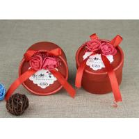 Quality Cardboard Tube Packaging Cute Paper Wedding Candy Box With Ribbon wholesale