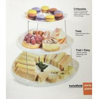 Fruit Three Tier Serving Tray Twistfold Cake Party Plates ECO Friendly
