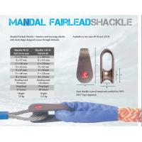 China Mandal fairlead shackle,Marine mooring shackle, Marine mooring shackle for wire rope and fiber rope on sale