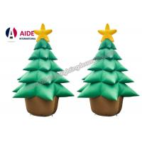 Quality Oxford Cloth Giant Inflatable Holiday Decor , Air Brown Inflatable Christmas Tree wholesale