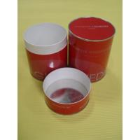 Quality Recycled Food Grade Red Paper Tube Containers for Tea, Candy, Food Powder Packaging wholesale