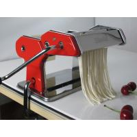 China Red Manual Hand Crank 180mm Detachable Pasta Making Machine With Aluminum Roller, Cutter on sale