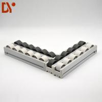 Quality 40*33 Aluminium Alloy Flow Rail PP Plastic Roller Track Durable For Industry wholesale