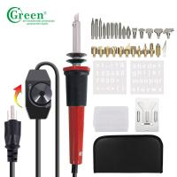 China PS10KT Wood Burning Kit / Soldering Kit 28 Tips With Regulator Temperature Control on sale