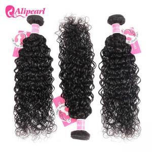 Quality 8A Quality Virgin Brazilian Human Hair Bundles Water Wave No Oiled Gloosy wholesale