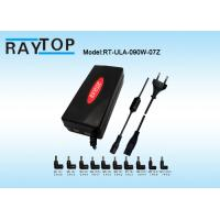 Cheap Red Color LED Halo 90W Automatic Universal Laptop Charger Dual USB 5V 3.1A 10 Tips for sale