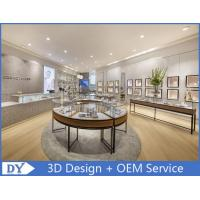 Quality Metal Round Shape Veneer Jewelry Display Cases / Retail Glass Display Cabinets wholesale