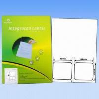 Buy cheap Adhesive Integrated Labels, Used as Invoice Labels, Made of 70 to 90g Vellum Paper, Customized Sizes from wholesalers