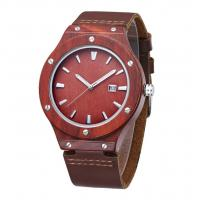 Quality Analog Dial Display Custom Design Watches , Men'S Waterproof Wood Watch wholesale