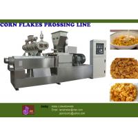 Quality Puffed Snack Food Processing Machinery, 57.75kw Corn Flakes Machines wholesale