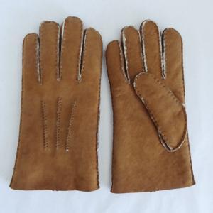 Quality Merino Shearling Sheepskin Mens Lambskin Gloves Customized Size Slink Lining wholesale