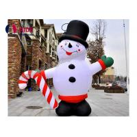 Cheap Happy Grinch Inflatable Holiday Decoration Christmas Advertise Hello Snowman for sale