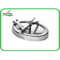 Quality 304 316L Stainless Steel Manhole Cover Sanitary Elliptical Shape For Hygienic Tank Vessels wholesale