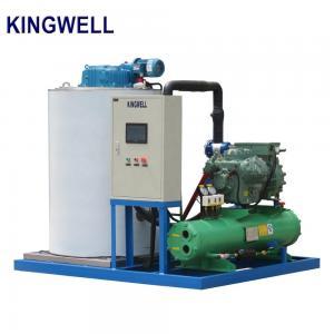 China Water Cooling Flake Ice Making Machine R22 Refrigerant Big Capacity on sale