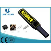 Quality Low Sensitivity Super Scanner Metal Detector , Black Handheld Security Wand wholesale