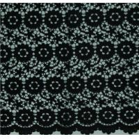 China Black Geometrics Chemical Lace Embroidery Fashion fabric for Garment Accessories on sale