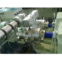 China CE / ISO9001 Twin Screw Extruder Pvc Pipe Extrusion Line 150-800kg/H on sale